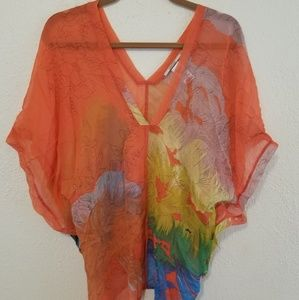 Anthropologie Language Silk top